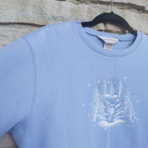 Y2K Northern Pastel 90's Winter Snow Sweatshirt